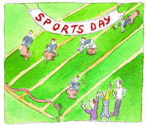 Sports day disasters and triumphs